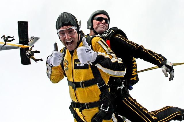 salto col paracadute